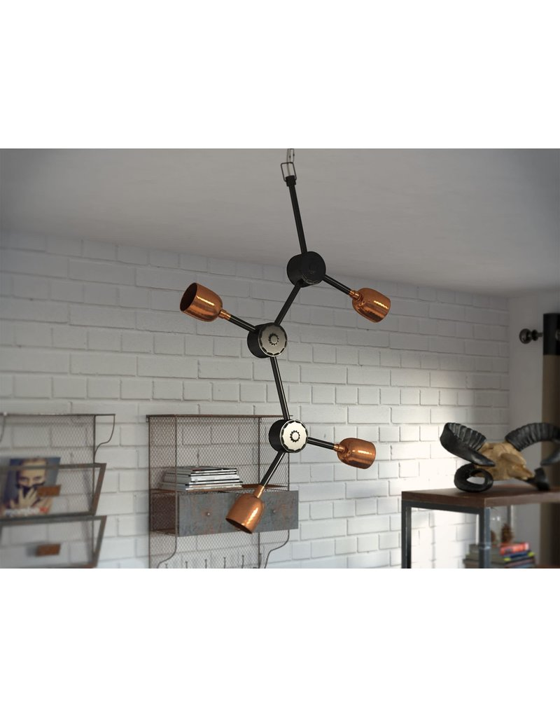 17 Stories Oakern 4-Light Sputnik Chandelier