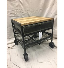 Industrial Style Metal End Table