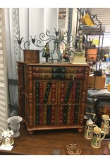 Faux Book Accent Cabinet w 2 Drawers