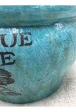 Teal Ceramic Planter