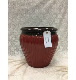 Red Ceramic Planter