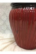 Red Ceramic Planter