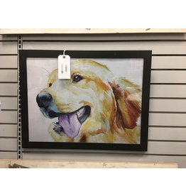 East Urban Home Allison Gray 'Golden Retriever' Graphic Art Print