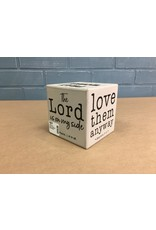 Pray More, Worry Less Six Sided Block