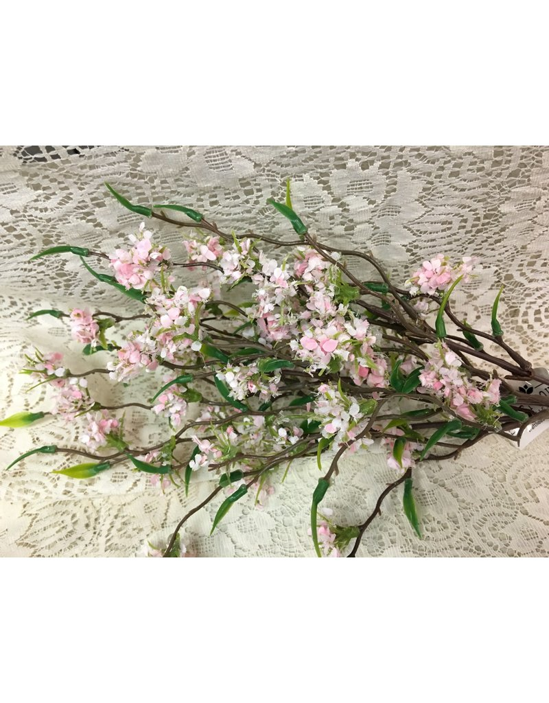 Bliss Buds Bush, Light Pink, 13""