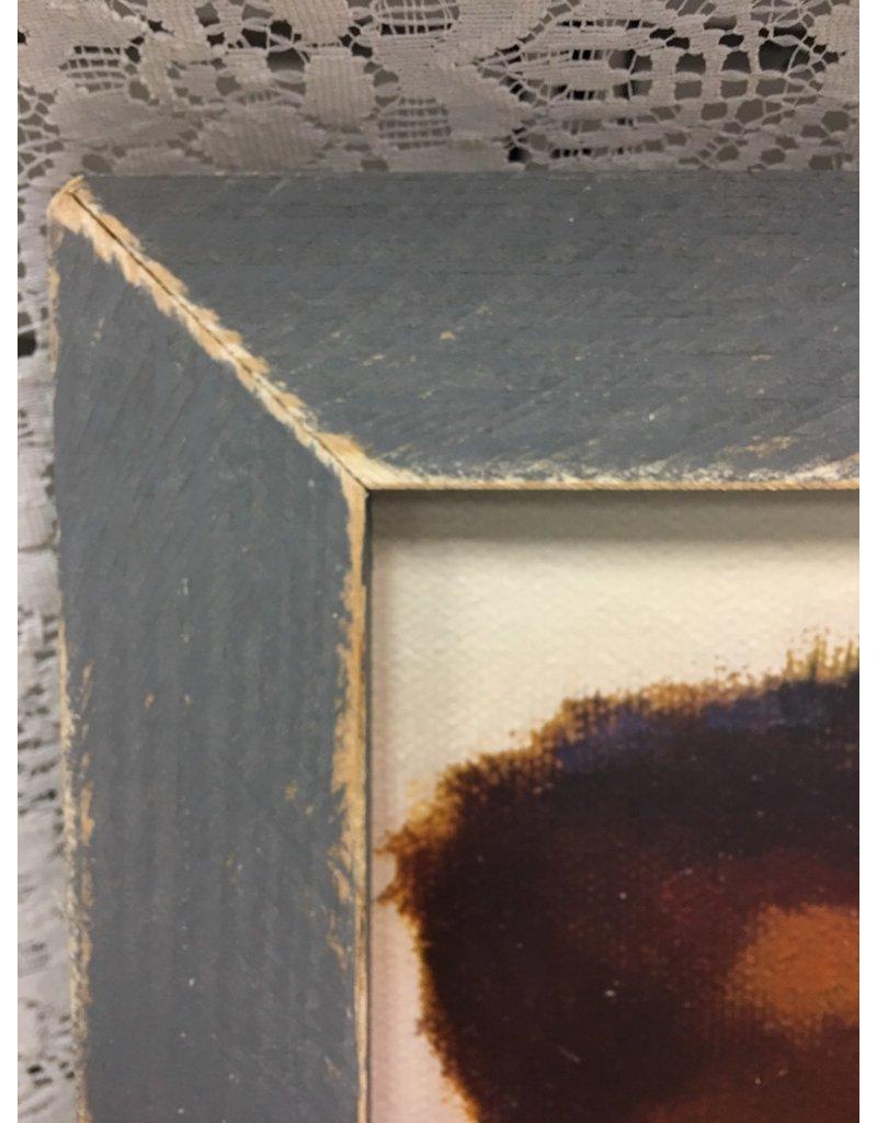 Nessie Framed Print, Grey Frame
