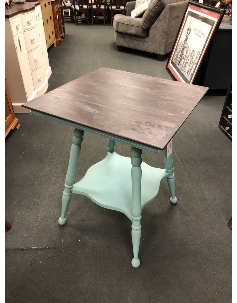 Key West Blue Parlor Table w/ Gray Stained Top