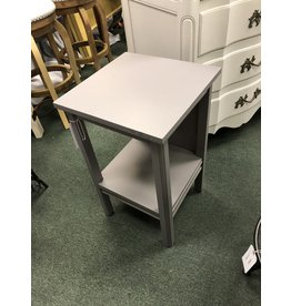 Driftwood Gray Painted 2 Shelf Side Table