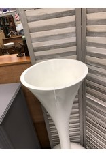 Tall Long Neck White Plastic Floor Vase