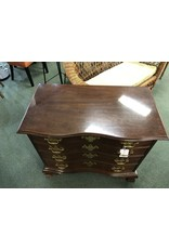 Serpentine Front 4 Drawer Chest w/ Brass Pulls by Hickory Chair Co.