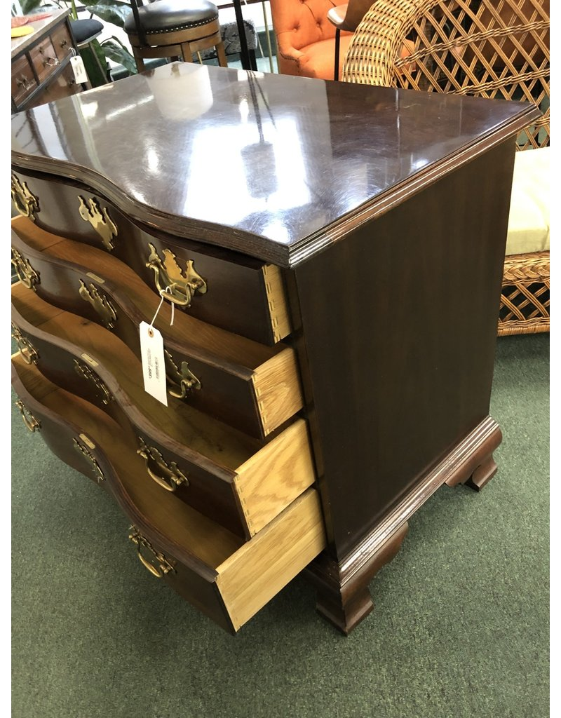 Hickory Chair Co. Serpentine Front 4 Drawer Chest w/ Brass Pulls by Hickory Chair Co.