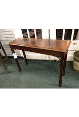 Chippendale Style Mahogany Sofa Table, Signed Ollie Armentrout Jr 1984