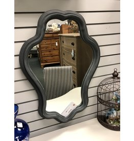 Whimsy Gray Painted Mirror