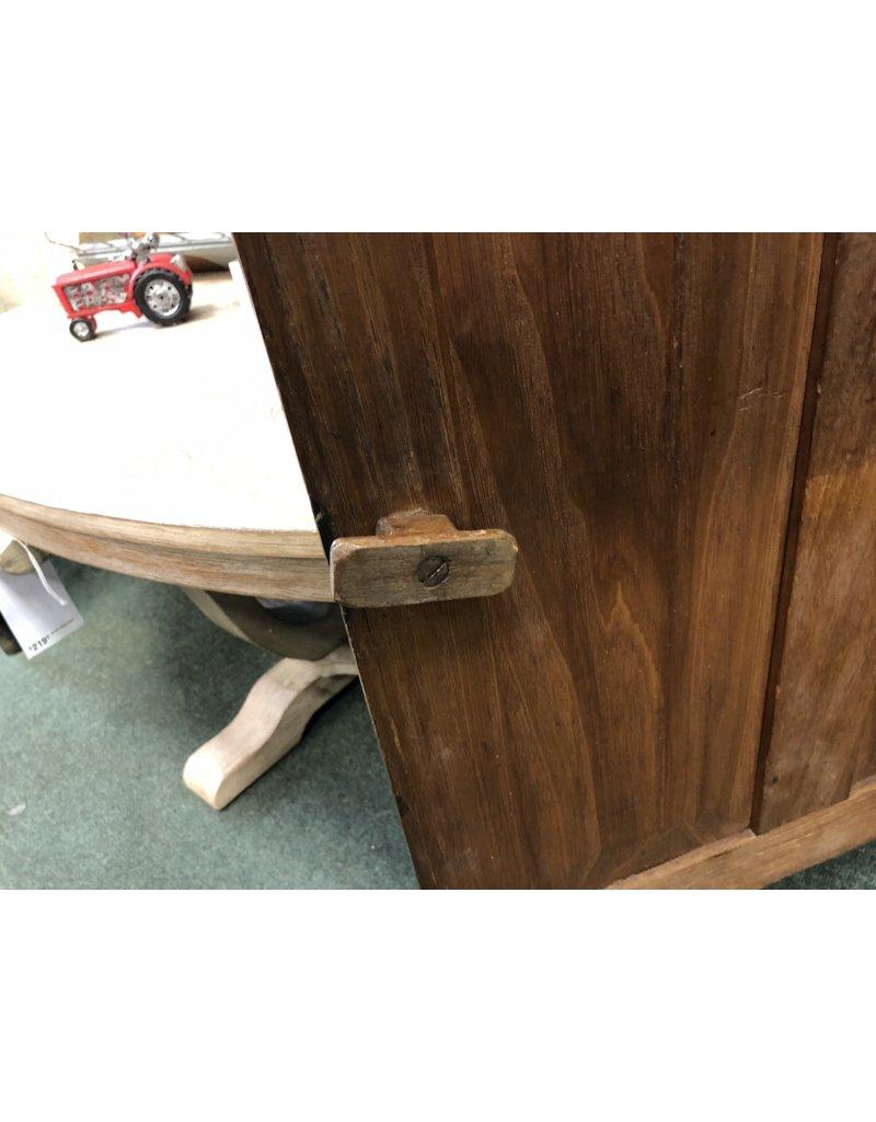 One Piece Corner Cupboard w/ 4 Pane Doors