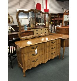 Harmony House French Style Maple Dresser w/ Mirror