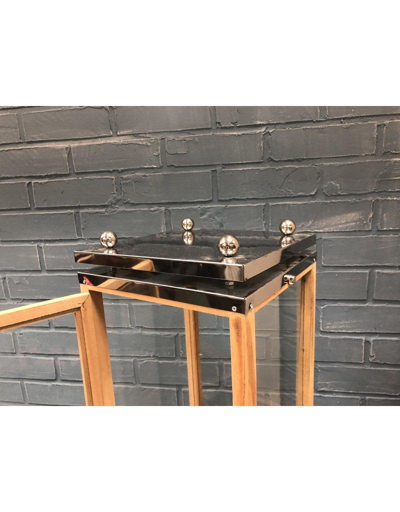 Wood and Metal Lantern
