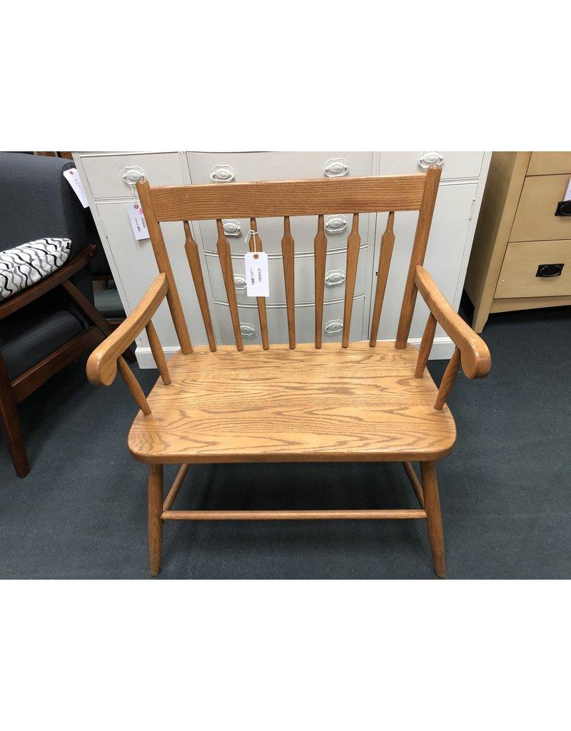 Solid Oak Bench by Amish Oak