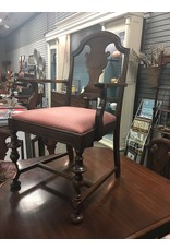 1920s Mahogany Extension Dining Table w 6 Chairs
