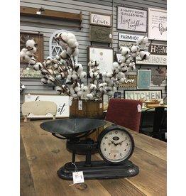 Antiqued Scale w/ Clock