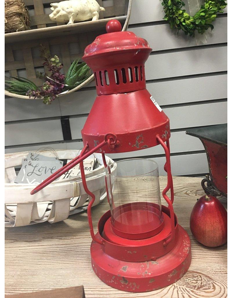 Farmhouse Red Lantern