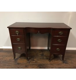 Mahogany 6 Drawer Vanity Desk