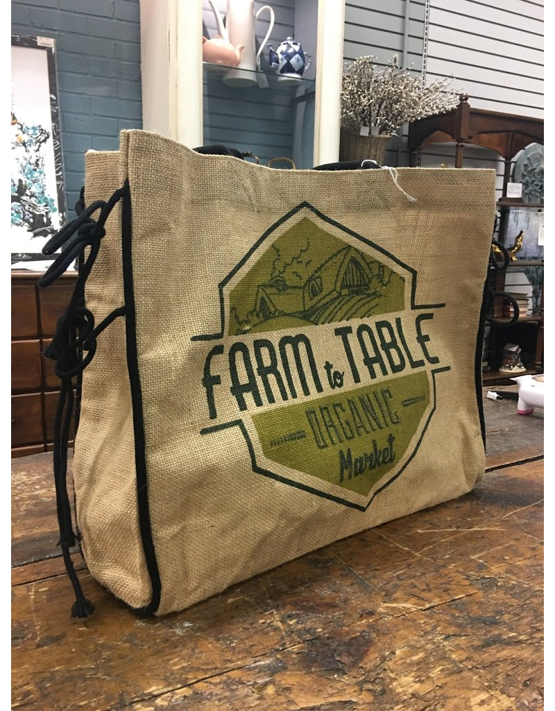 Farm to Table Burlap Tote