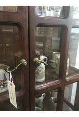 Dark Wood 5 Shelf Curio Cabinet