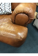 Sealy Brown Leather Oversized Armchair