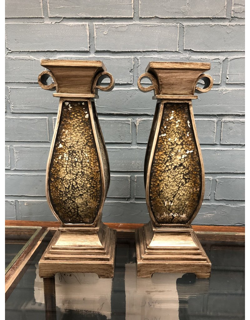 Pair of Mosaic Candle Holders