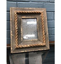 Antiqued Framed Mirror
