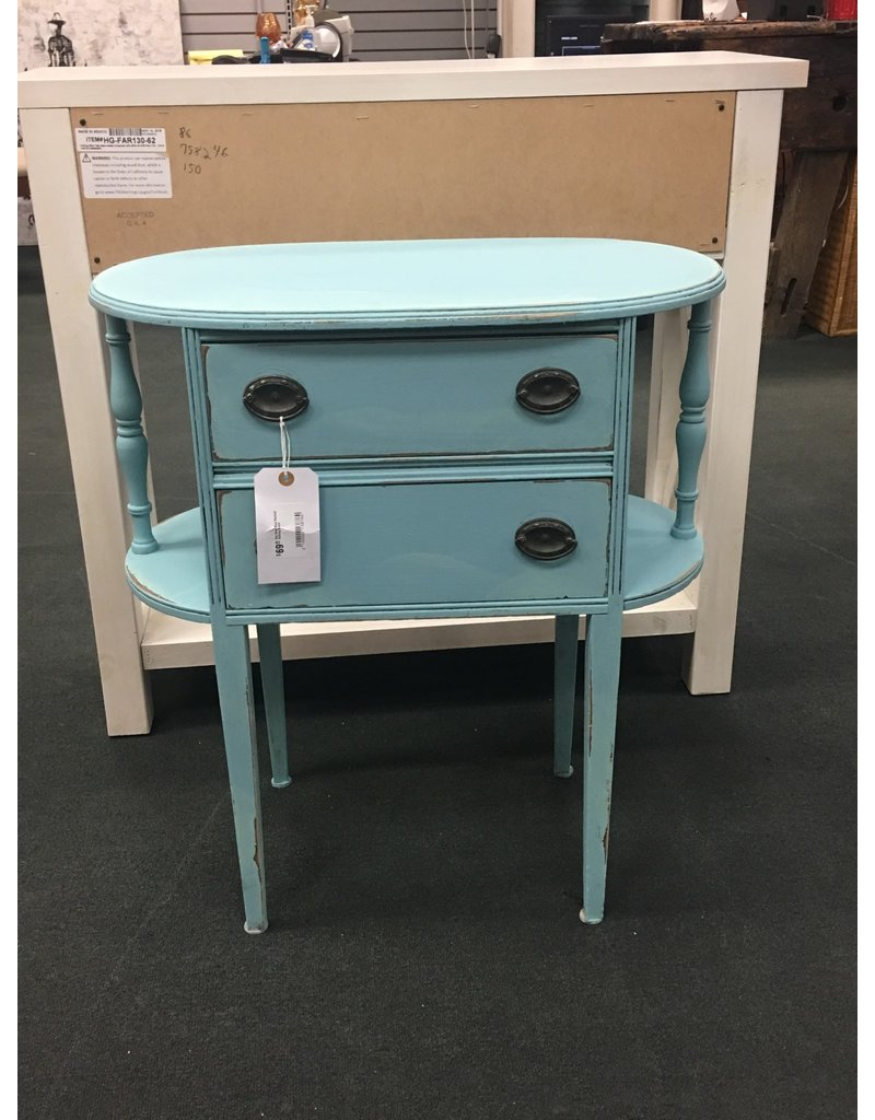 Key West Blue Painted Sewing Stand