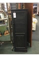 Black Painted Cabinet w/ Shutter Door