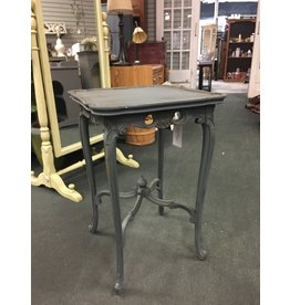 Gray Painted Carved Side Table