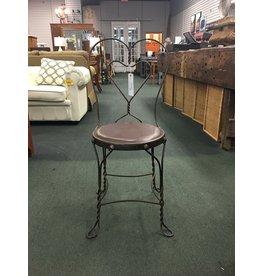 Wrough Iron Heart Shape Ice Cream Parlor Chair