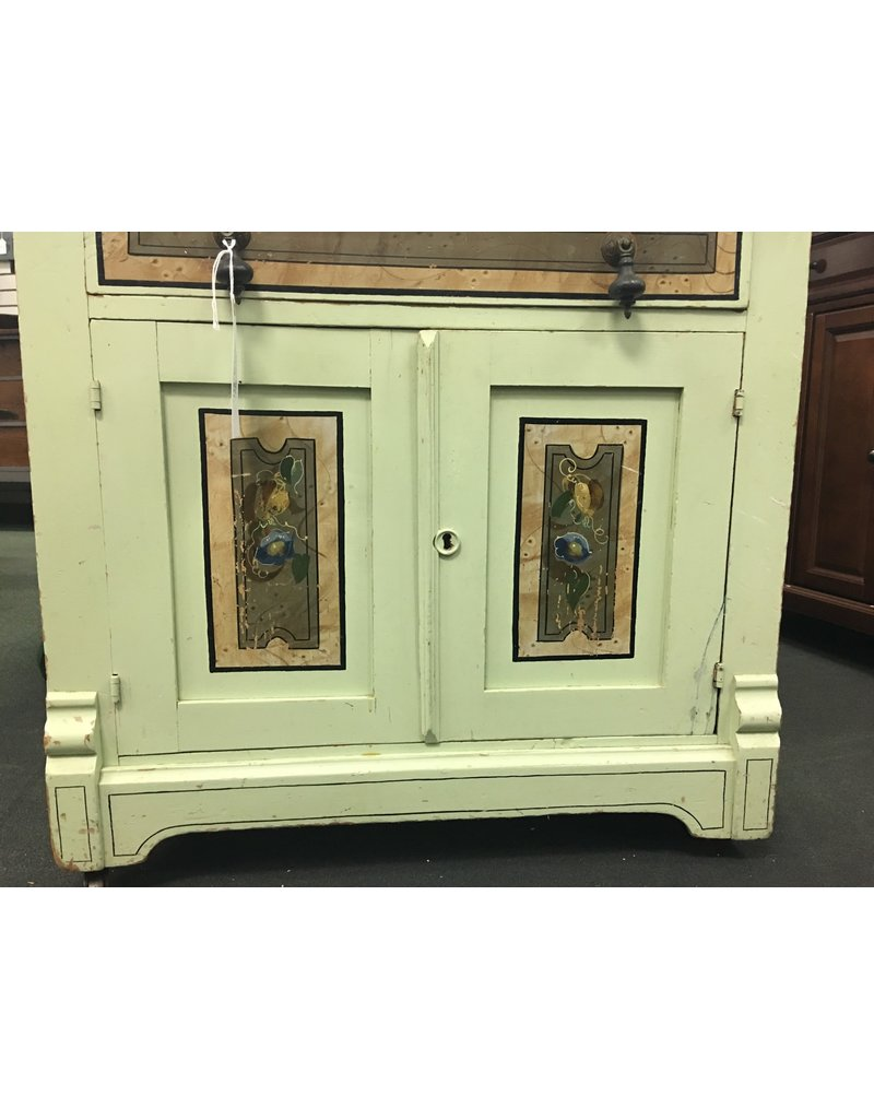 Hand Painted Mint Green Washstand w/ Single Drawer