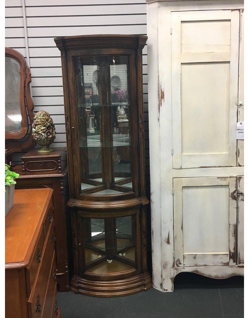 Small Wood Corner Curio Cabinet