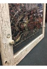 Chippy White Window w Hanking Knobs