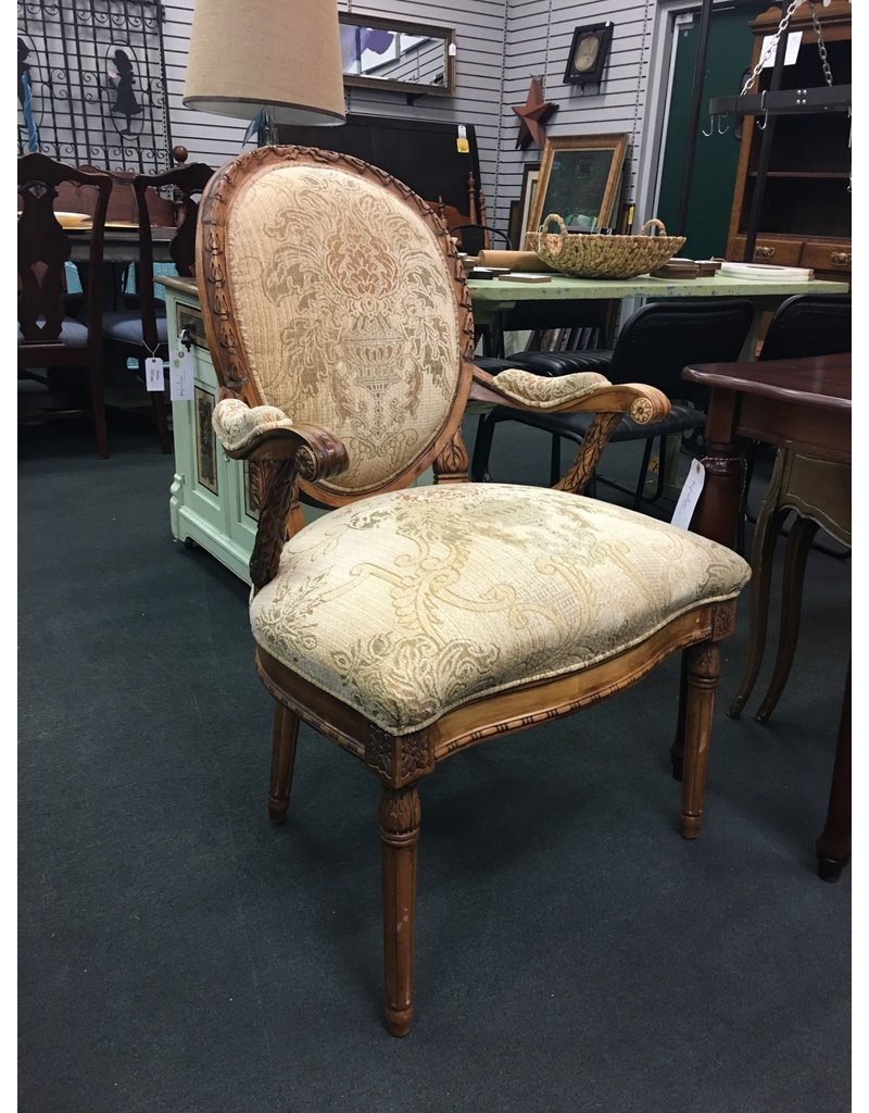 Century Furniture Oval Back Upholstered Armchair