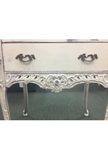 Pair of Antique White French Style End Tables