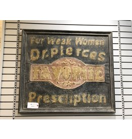 Large Metal Apothecary Reproduction Sign