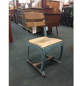 Vintage Blue School Chair