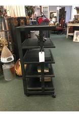 Black Multi Tier Shelf w/ Casters