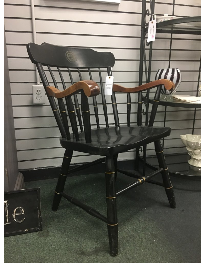 Hitchcock Style Armchair w/ Gold Trim