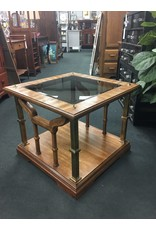 Square Glass Top End Table