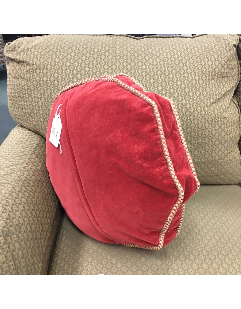 Vintage Red, Round Petit Point Pillow
