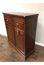 Mahogany Two Door Cabinet w Lion Head Pulls