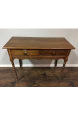 Mahogany Vanity Desk w Spindle Legs