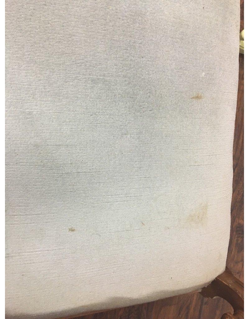 Mahogany Vanity Stool w/ Upholstered Seat
