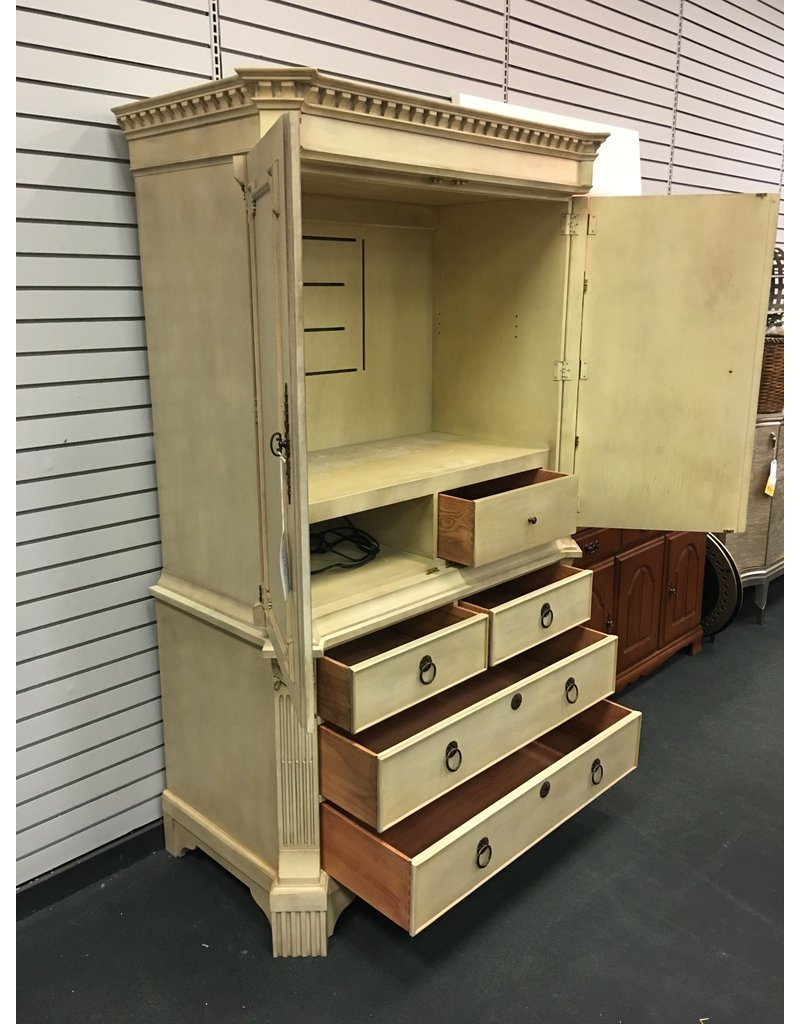 Hickory Chair Co. Two Piece Entertainment Cabinet by Hickory Chair