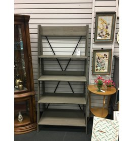 Gracie Oaks Rowley Solid Wood Ladder Bookcase